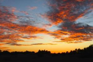 Sonnenuntergang Wüste