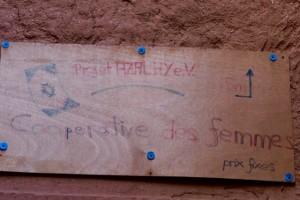 Abdellah begleitet uns zur Frauenkooperative in der Kasbah. Allein hätten wir wahrscheinlich weder hin noch zurück gefunden.