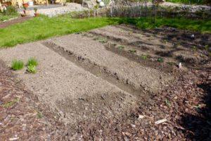 Nachdem viel Schweiß geflossen ist: Die vorbereiteten Beete warten auf ihre Bepflanzung.
