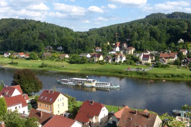 Die Elbe bei Stadt Wehlen