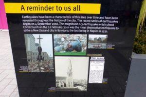 Zerstörte Erinnerungen in Christchurch